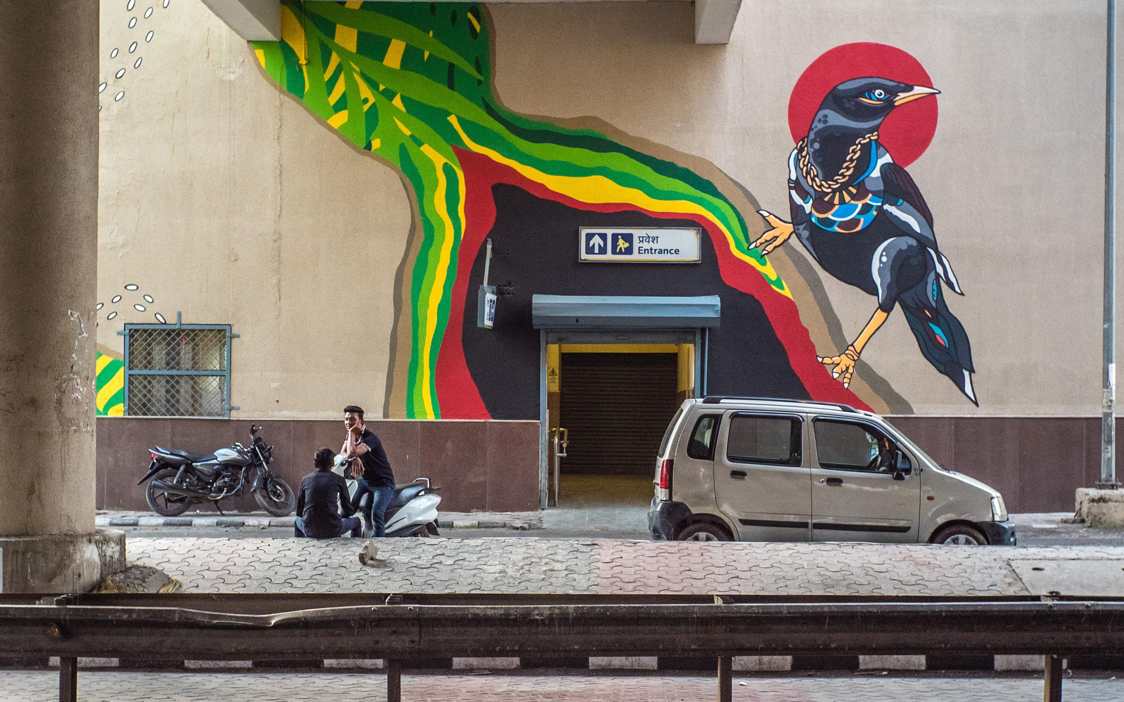 Sam Soph Reveals Arjan Garh Metro St Art DMRC Project 2017 Pranav Gohil 5